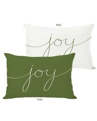 One Bella Casa Holiday Joy Mix and Match Polyester Throw Pillow; Green