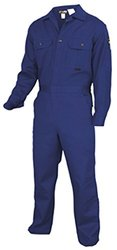 MCR Safety DC1B36 Deluxe Contractor Flame Resistant Coveralls, Size 36, Chest 36-Inch, Waist 30-Inch, Inseam 30-Inch, Royal Blue