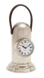 "Benzara 7 x16"" Unique & Distinct Stainless Steel Table Clock (27898)"
