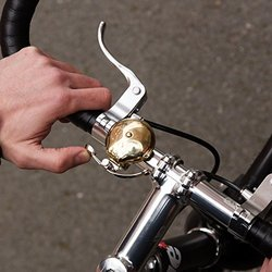 Suck Uk Skull Brass Bicycle Bell with Thumb Lever