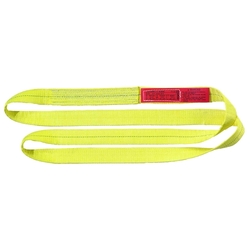 """Liftall Polyester Web Sling Twisted Eye 2 Ply - Yellow - Size: 18"""" x 6"""""""