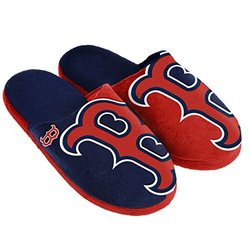 MLB Boston Red Sox Split Color Slide Slipper - Red - Size: X-Large
