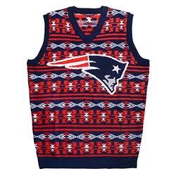 New England Patriots Men's Aztec Print Ugly Sweater Vest - Size: Medium