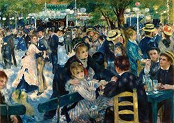 JP London TMC2009 Renoir Prepasted Removable Wall Mural, The Masters Collection Dance at le Moulin de la Galette, 12 by 8.5-Feet