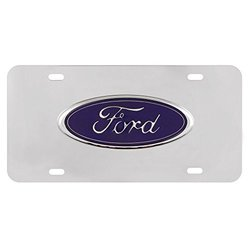 Pilot Automotive LP-021B Ford Chrome 3D Plate
