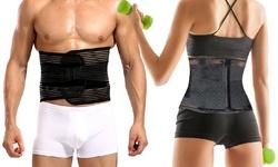 Slim & Trim Unisex Waist Belt for Waist Trimmer - Black
