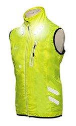 Visijax Men's Led Gilet Jacket - Yellow - Size: 2XL