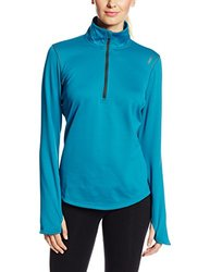 Reebok Women's Essential 1/4 Zip Shirt - English Emerald - Size: Large