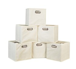 Regency Niche Cubo Foldable Fabric Storage Bin Set of 6 - Beige