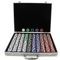 Trademark 1000 Royal Suited 11.5 Gram Chips with Aluminum Case (Silver)