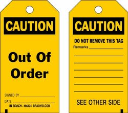 Brady 86424, Accident Prevention Tags (Pack of 10 pcs)