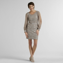 Scarlett Women's Lace Dress - Taupe - Size: 12