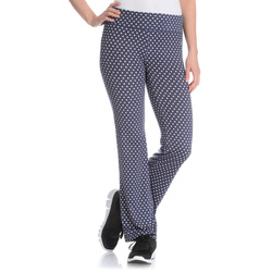 Vogo Performance Women's Polka Dot Active Flare Pant - Blue - Size: Medium