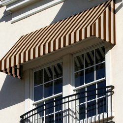 "Awntech 5 Ft New Yorker Window/Entry Awning - Brown/Tan - Size: 44"" x 24"""