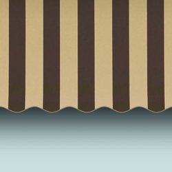 Awntech 8-Feet Dallas Retro Window/Entry Awning, 31-Inch Height by 24-Inch Diameter, Brown/Tan