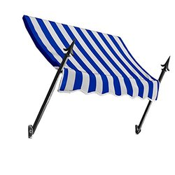 "Awntech 3Ft New Orleans Awning - Blue/White - Size: 44"" x 24"""