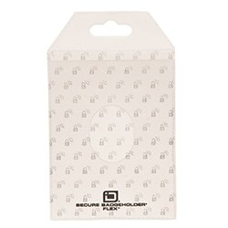 Identity Stronghold Secure Badge Holder Flex, White, Pack of 10 (IDSH3004-001B-PACK10-wht)