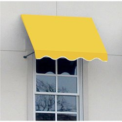 "Awntech 4-Feet Dallas Retro Window/Entry Awning 31 by 24"" - Light Yellow"