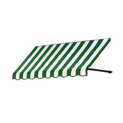"Awntech 3 Ft Dallas Retro Window Awning - Forest/White - Size: 44"" x 24"""