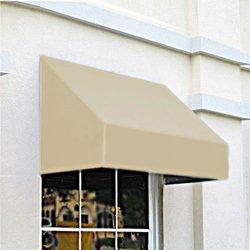 Awntech CN44-3L, Window/Entry Awning 3-3/8'W x 4-11/16'H x 4'D Linen