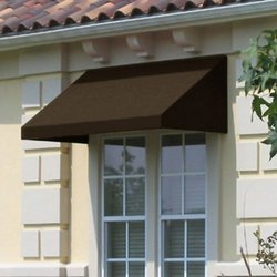 3 ft. New Yorker Window/Entry Awning (18 in. H x 36 in. D) in Brown