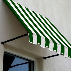 Awntech 5-Feet Santa Fe Twisted Rope Arm Window/Entry Awning, 44-Inch Height by 24-Inch Diameter, Forest Green/White