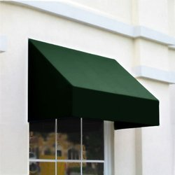 "Awntech 3-Feet New Yorker Window/Entry Awning 44"" by 48"" - Forest Green"
