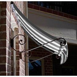 Awntech 4-Feet Charleston Window/Entry Awning 18 by 36-Inch - Gray/White