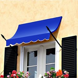 Awntech 8-Feet New Orleans Awning, 31-Inch Height by 16-Inch Diameter, Bright Blue