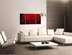 "Metal Artscape Evening Rose 3 Panel Handmade Wall Art - Size: 24"" x 47"""