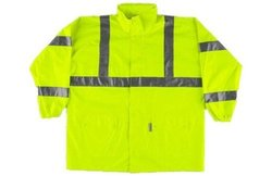 Neese Unisex High Visibility Parka with Tuck Away Hood - Lime - Size: M