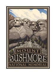 "Northwest Art Mount Rushmore National Memorial Print - Size: 18"" x 24"""