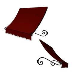 4 ft. Charleston Window/Entry Awning 24 in. H x 36 in. D - Burgundy