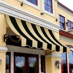 Awntech 5-Feet Charleston Window/Entry Awning 44 by 24-Inch - Black/Tan