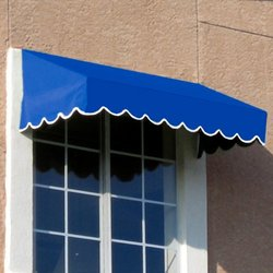 Awntech 7-Feet San Francisco Window/Entry Awning, 16-Inch Height by 30-Inch Diameter, Bright Blue