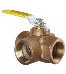 Bronze Ball Valve 3-Way 1""