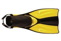 Tilos Getaway Snorkeling Fins Open Heel Fins - Yellow - Size: Medium/L/XL