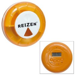 Reizen Vibratory Pill Organizer with LCD Clock-Vibrating Alarm-Timer