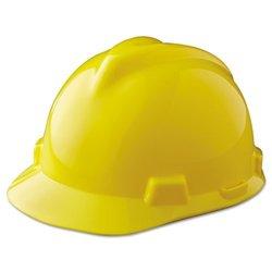 MSA V-Gard Staz-On Cap - Polyethylene - 1 Each - Yellow