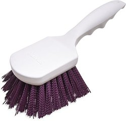 "Carlisle 4054168 Sparta Spectrum Polypropylene Handle General Clean Up Brush, Polyester Bristles, 8"" Length x 3"" Width, 1.63"" Bristle Trim, Purple"
