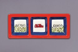 Magnolia Lane 3 Section Serveware Tray - Ole Miss Rebels