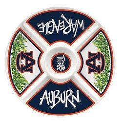Collegiate Melamine Veggie Tray (Auburn Tigers)