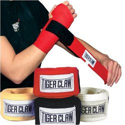 "Tiger Claw Professional 180"" Cloth Hand Wraps - Yellow"