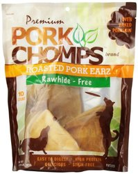 Scott Pet Products Pork Chomps Premium 10 Count Pork Earz for Dogs