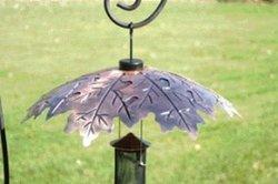 WoodLink Weather Shield Copper Oak Leaf Squirrel Baffle