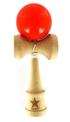 Super Kendama Orange Solid Shinny Ball And Extra String