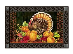 Magnet Works MAIL11026 Give Thanks Turkey MatMate - Doormat