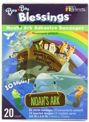 Noah's Ark Boo Boo Blessings Adhesive Bandages - Assorted - 20 count