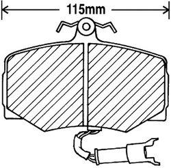 Beck Arnley  082-1317  Premium Brake Pads