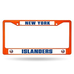 NHL Colored Chrome License Plate Frame: Islanders
